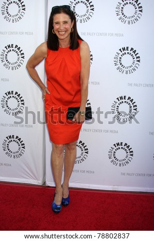 LOS ANGELES - JUN 7:  Mimi Rogers arrives at the Debbie Reynolds Hollywood Memorabilia Collection Auction & Auction Preview at Paley Center For Media on June 7, 2011 in Beverly Hills, CA - stock photo