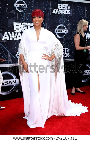 LOS ANGELES - JUN 28:  Monica at the 2015 BET Awards - Arrivals at the Microsoft Theater on June 28, 2015 in Los Angeles, CA - stock photo