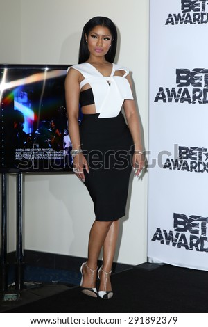 LOS ANGELES - JUN 28:  Nicki Minaj at the 2015 BET Awards - Press Room at the Microsoft Theater on June 28, 2015 in Los Angeles, CA - stock photo