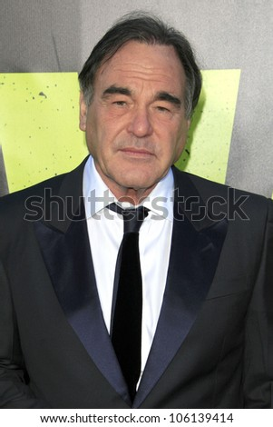"LOS ANGELES - JUN 25:  Oliver Stone arrives at the ""Savages"" Premiere at Village Theater on June 25, 2012 in Westwood, CA"