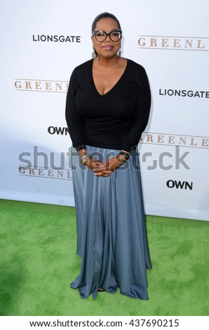 LOS ANGELES - JUN 15:  Oprah Winfrey at the Greenleaf OWN Series Premiere at the The Lot on June 15, 2016 in West Hollywood, CA - stock photo