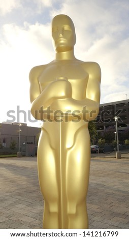 LOS ANGELES - JUN 5: Oscar statue at the screening of Lionsgate and Roadside Attractions' 'Much Ado About Nothing' on June 5, 2013 in Los Angeles, California - stock photo