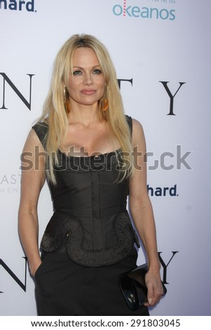 """LOS ANGELES - JUN 24:  Pamela Anderson at the """"Unity"""" Documentary World Premeire at the Director's Guild of America on June 24, 2015 in Los Angeles, CA - stock photo"""