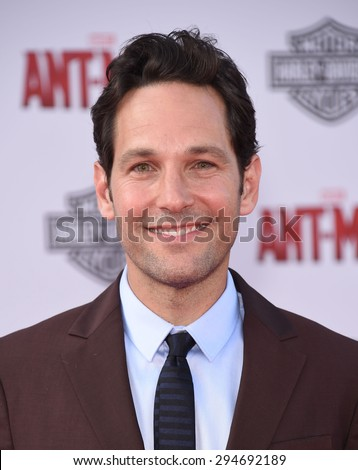 "LOS ANGELES - JUN 29:  Paul Rudd arrives to the ""Ant-Man"" World Premiere  on June 29, 2015 in Hollywood, CA                 - stock photo"