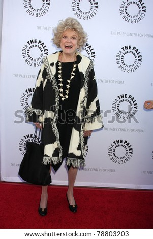 LOS ANGELES - JUN 7:  Phyllis Diller arrives at the Debbie Reynolds Collection Auction Preview at Paley Center For Media on June 7, 2011 in Beverly Hills, CA - stock photo