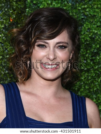 LOS ANGELES - JUN 02:  Rachel Bloom arrives to the 2016 CBS Summer Soiree  on June 02, 2016 in Hollywood, CA.                 - stock photo