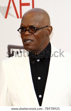 LOS ANGELES - JUN 9:  Samuel L Jackson arriving at the 39th AFI Life Achievement Award Honoring Morgan Freeman at Sony Pictures Studios on June 9, 2011 in Culver City, CA - stock photo