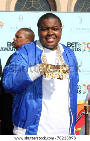 LOS ANGELES - JUN 28:  Sean Kingston arriving at the BET Awards 2009 at Shrine Auditorium on June 28, 2009 in Los Angeles, CA - stock photo