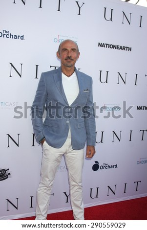 """LOS ANGELES - JUN 24:  Shaun Toub at the """"Unity"""" Documentary World Premeire at the Director's Guild of America on June 24, 2015 in Los Angeles, CA - stock photo"""