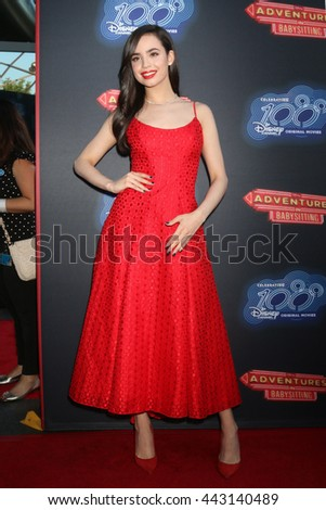 LOS ANGELES - JUN 23:  Sofia Carson at the 100th DCOM Adventures In Babysitting LA Premiere Screening at the Directors Guild of America on June 23, 2016 in Los Angeles, CA - stock photo