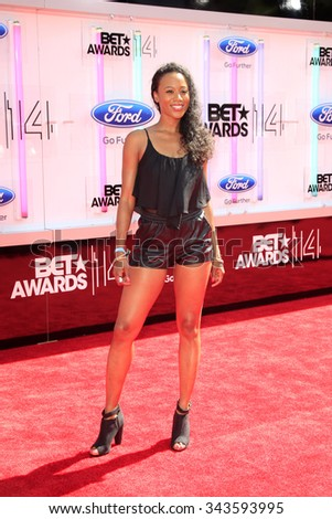 LOS ANGELES - JUN 29:  Stephanie Charles at the 2014 BET Awards - Arrivals at the Nokia Theater at LA Live on June 29, 2014 in Los Angeles, CA - stock photo
