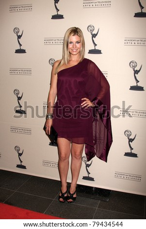 LOS ANGELES - JUN 16:  Stephanie Gatschet arrives at the Academy of Television Arts and Sciences Daytime Emmy Nominee Reception at SLS Hotel at Beverly Hills on June 16, 2011 in Beverly Hills, CA - stock photo