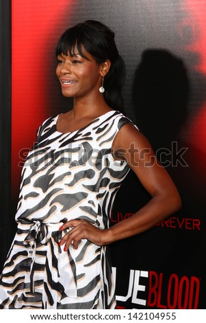 """LOS ANGELES - JUN 11:  Sufe Bradshaw arrives at the  """"True Blood"""" Season 6 Premiere Screening at the ArcLight Hollywood Theaters on June 11, 2013 in Los Angeles, CA - stock photo"""