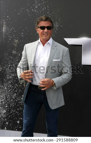 """LOS ANGELES - JUN 28:  Sylvester Stallone at the """"Terminator Genisys"""" Los Angeles Premiere at the Dolby Theater on June 28, 2015 in Los Angeles, CA - stock photo"""