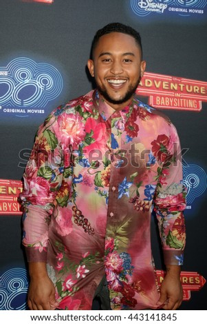LOS ANGELES - JUN 23:  Tahj Mowry at the 100th DCOM Adventures In Babysitting LA Premiere Screening at the Directors Guild of America on June 23, 2016 in Los Angeles, CA - stock photo