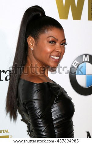 LOS ANGELES - JUN 15:  Taraji P Henson at the Women In Film 2016 Crystal and Lucy Awards at the Beverly Hilton Hotel on June 15, 2016 in Beverly Hills, CA - stock photo