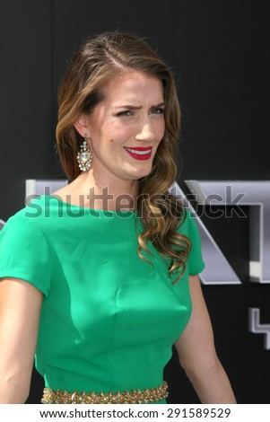 "LOS ANGELES - JUN 28:  Teri Wyble at the ""Terminator Genisys"" Los Angeles Premiere at the Dolby Theater on June 28, 2015 in Los Angeles, CA - stock photo"