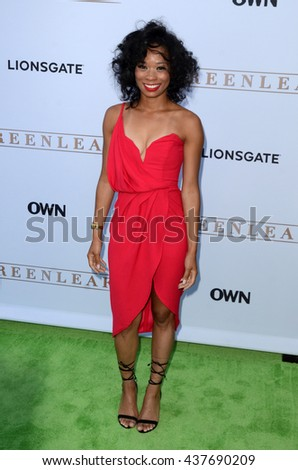 LOS ANGELES - JUN 15:  Terri Abney at the Greenleaf OWN Series Premiere at the The Lot on June 15, 2016 in West Hollywood, CA - stock photo