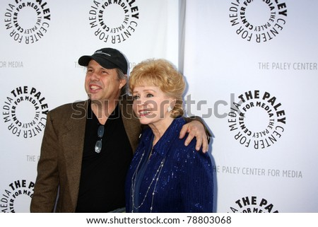 LOS ANGELES - JUN 7:  Todd Fisher, Debbie Reynolds arrive at the Debbie Reynolds Collection Auction Preview at Paley Center For Media on June 7, 2011 in Beverly Hills, CA - stock photo