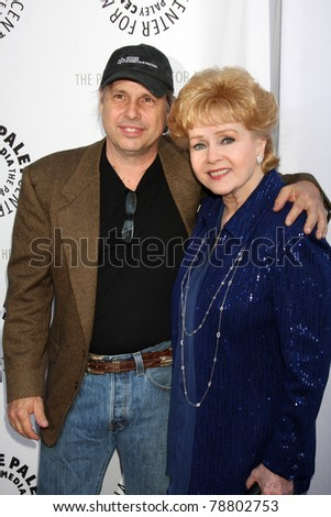 LOS ANGELES - JUN 7:  Todd Fisher, Debbie Reynolds arrive at the Debbie Reynolds Hollywood Memorabilia Collection Auction Preview at Paley Center For Media on June 7, 2011 in Beverly Hills, CA - stock photo