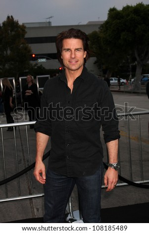 "LOS ANGELES - JUN 8:  Tom Cruise arriving at the ""Super 8"" Premiere at Village Theataer on June 8, 2011 in Westwood, CA - stock photo"