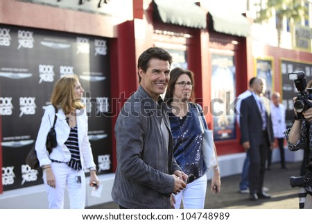 LOS ANGELES - JUN 8: Tom Cruise at the 'Rock of Ages' Los Angeles premiere held at Grauman's Chinese Theater on June 8, 2012 in Los Angeles, California - stock photo