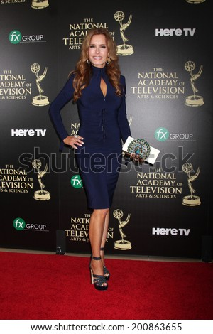 LOS ANGELES - JUN 22:  Tracey Bregman at the 2014 Daytime Emmy Awards Arrivals at the Beverly Hilton Hotel on June 22, 2014 in Beverly Hills, CA - stock photo