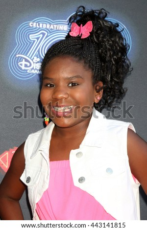 LOS ANGELES - JUN 23:  Trinitee Stokes at the 100th DCOM Adventures In Babysitting LA Premiere Screening at the Directors Guild of America on June 23, 2016 in Los Angeles, CA - stock photo