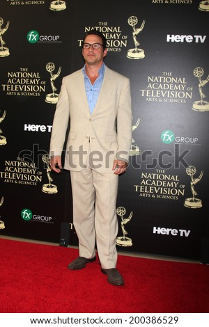 LOS ANGELES - JUN 22:  Tyler Christopher at the 2014 Daytime Emmy Awards Arrivals at the Beverly Hilton Hotel on June 22, 2014 in Beverly Hills, CA - stock photo