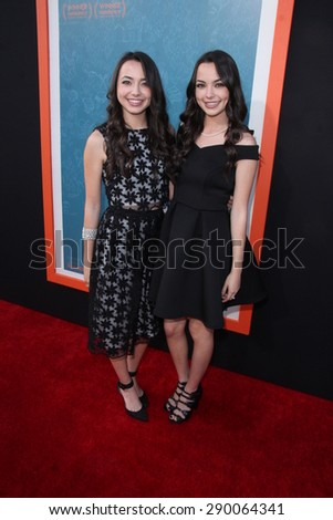 "LOS ANGELES - JUN 3:  Veronica Merrell, Vanessa Merrell at the ""Me And Earl And The Dying Girl"" LA Premiere  at the Harmony Gold Theatre on June 3, 2015 in Los Angeles, CA"