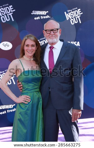 """LOS ANGELES - JUN 8:  Victoria Labalme, Frank Oz at the """"Inside Out"""" Premiere at the El Capitan Theatre on June 8, 2015 in Los Angeles, CA - stock photo"""