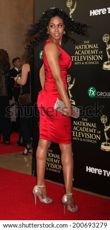 LOS ANGELES - JUN 22:  Vinessa Antoine at the 2014 Daytime Emmy Awards Arrivals at the Beverly Hilton Hotel on June 22, 2014 in Beverly Hills, CA - stock photo