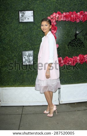 LOS ANGELES - JUN 13: Zendaya at the  LadyLike Foundation 7th Annual Women Of Excellence Scholarship Luncheon at Luxe Hotel on June 13, 2015 in Los Angeles, California. - stock photo