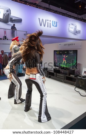 LOS ANGELES - JUNE 8: Ubisoft showing Just Dance 4 on the Nintendo WiiU console for the firs time during E3 2012, world video games Expo June 8, 2012 in Los Angeles, CA