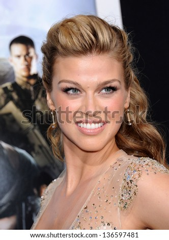 """LOS ANGELES - MAR 28:  Adrianne Palicki arrives to the """"G.I. Joe: Retaliation"""" Los Angeles Premiere  on March 28, 2013 in Hollywood, CA. - stock photo"""