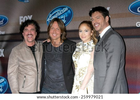 "LOS ANGELES - MAR 11:  American Idol XIV Finalists at the ""American Idol Season 14"" Finalist Party at the The District Resturant on March 11, 2015 in Los Angeles, CA - stock photo"