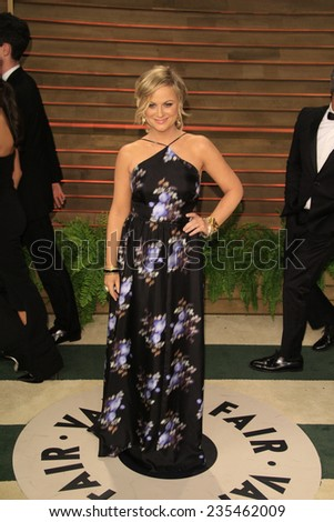 LOS ANGELES - MAR 2:  Amy Poehler at the 2014 Vanity Fair Oscar Party at the Sunset Boulevard on March 2, 2014 in West Hollywood, CA - stock photo