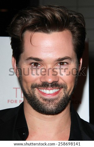 LOS ANGELES - MAR 7:  Andrew Rannells at the Raising The Bar To End Parkinsons Event at the Public School 818 on March 7, 2015 in Sherman Oaks, CA - stock photo