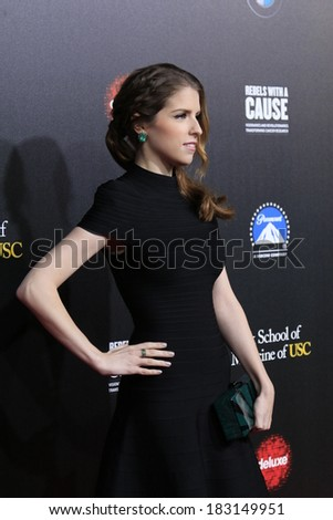 LOS ANGELES - MAR 20:  Anna Kendrick at the 2nd Annual Rebels With A Cause Gala at Paramount Studios on March 20, 2014 in Los Angeles, CA - stock photo