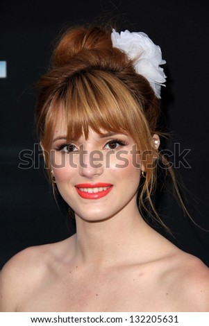 """LOS ANGELES - MAR 19:  Bella Thorne arrives at  """"The Host"""" World Premiere at the ArcLight Hollywood Theaters on March 19, 2013 in Los Angeles, CA - stock photo"""