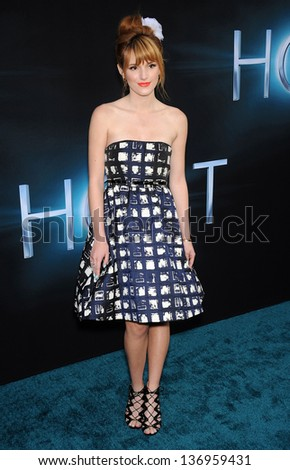 """LOS ANGELES - MAR 19:  Bella Thorne arrives to the """"The Host"""" World Premiere  on March 19, 2013 in Hollywood, CA. - stock photo"""
