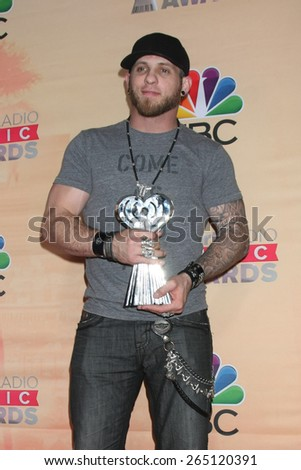 LOS ANGELES - MAR 29:  Brantley Gilbert at the 2015 iHeartRadio Music Awards Press Room at the Shrine Auditorium on March 29, 2015 in Los Angeles, CA - stock photo
