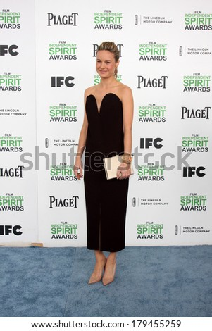 LOS ANGELES - MAR 1:  Brie Larson at the Film Independent Spirit Awards at Tent on the Beach on March 1, 2014 in Santa Monica, CA