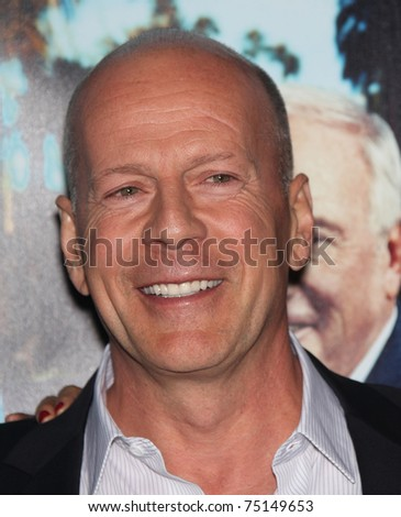 LOS ANGELES - MAR 22:  Bruce Willis arrives to 'His Way' Los Angeles Premiere  on March 23, 2011 in Hollywood, CA - stock photo