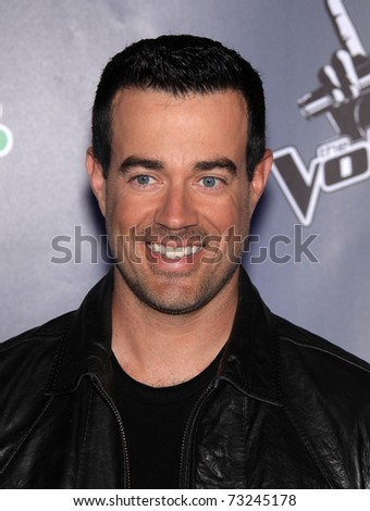 "LOS ANGELES - MAR 15:  Carson Daly arrives to the Press Junket for ""The Voice""  on March 15, 2011 in Los Angeles, CA"