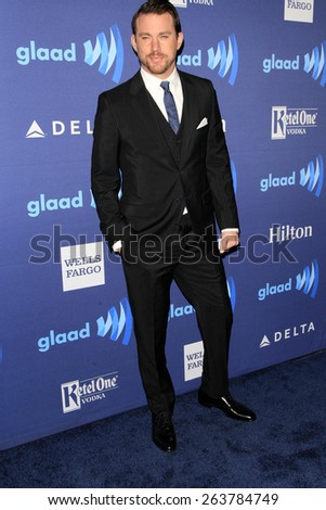 LOS ANGELES - MAR 21:  Channing Tatum at the 26th Annual GLAAD Media Awards at the Beverly Hilton Hotel on March 21, 2015 in Beverly Hills, CA - stock photo