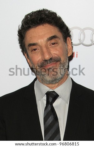 LOS ANGELES - MAR 1:  Chuck Lorre arrives at the Academy of Television Arts & Sciences 21st Annual Hall of Fame Ceremony at the Beverly Hills Hotel on March 1, 2012 in Beverly Hills, CA - stock photo