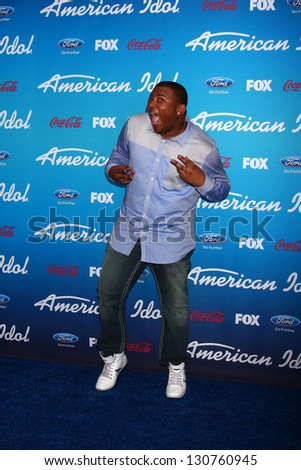 "LOS ANGELES - MAR 7:  Curtis Finch Jr. arrives at the 2013 ""American Idol"" Finalists Party at the The Grove on March 7, 2013 in Los Angeles, CA"