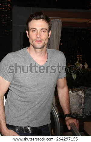 LOS ANGELES - MAR 26:  Daniel Goddard at the Young & Restless 42nd Anniversary Celebration at the CBS Television City on March 26, 2015 in Los Angeles, CA - stock photo