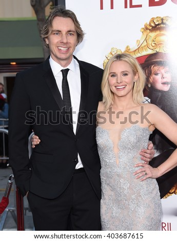 "LOS ANGELES - MAR 28:  Dax Shepard & Kristen Bell arrives to the ""The Boss"" World Premiere  on March 28, 2016 in Hollywood, CA.                 - stock photo"